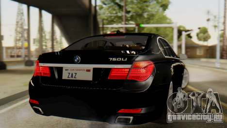 BMW 750Li 2012 для GTA San Andreas вид слева