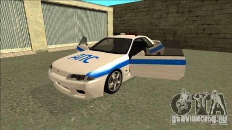 Nissan Skyline R32 Russian Police для GTA San Andreas двигатель