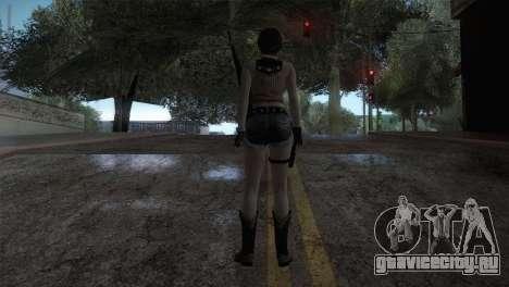 Resident Evil HD - Rebecca Chambers Cowgirl для GTA San Andreas третий скриншот