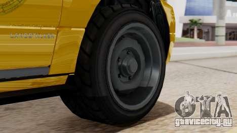 Landstalker Taxi SR 4 Style Flatshadow для GTA San Andreas вид сзади слева