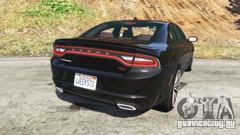 Dodge Charger RT 2015 v0.5 для GTA 5 вид сзади слева