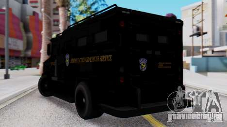 GTA 5 Enforcer Raccoon City Police Type 2 для GTA San Andreas вид слева