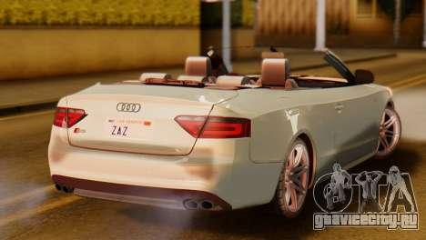 Audi S5 2010 Cabriolet для GTA San Andreas вид слева