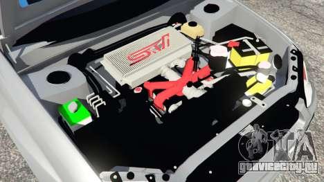 Subaru Impreza WRX STI 2005 для GTA 5 вид сзади справа