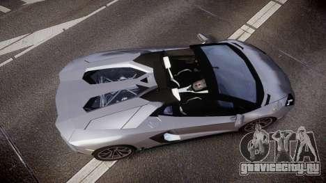 Lamborghini Aventador Roadster для GTA 4 вид справа