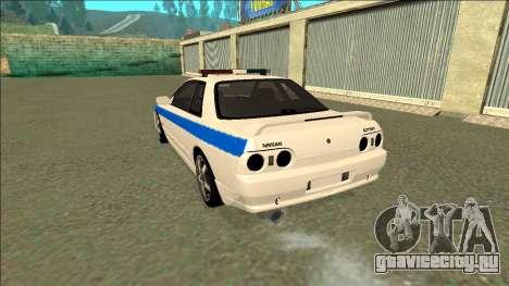 Nissan Skyline R32 Russian Police для GTA San Andreas вид снизу