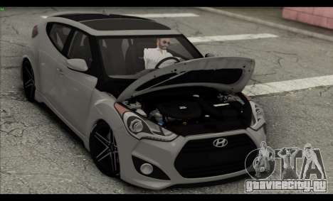 Hyundai Veloster 2012 для GTA San Andreas вид снизу
