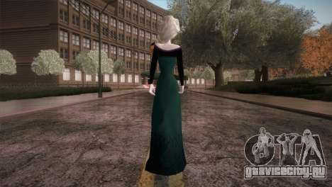 Elsa Frozen HQ Dress для GTA San Andreas третий скриншот