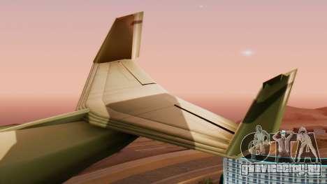 Штурмовик Shamal для GTA San Andreas вид справа