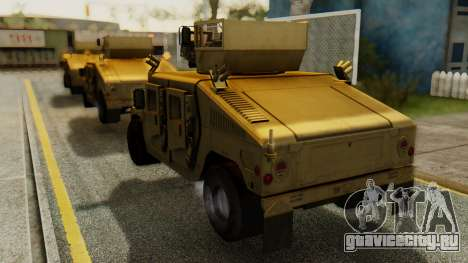 PR BF2 US Army UpArmored Humvee Armed with MK19 для GTA San Andreas вид слева