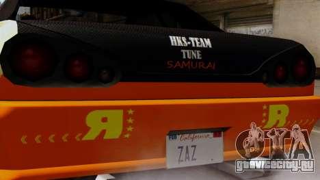 Винил для Elegy - Samurai Drifting для GTA San Andreas вид сзади слева
