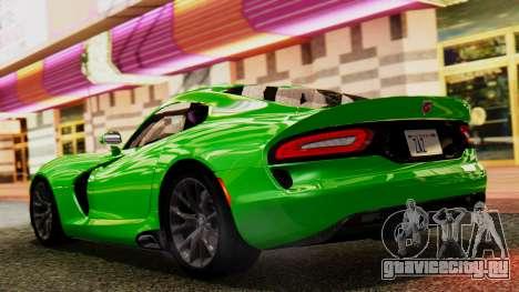 Dodge Viper SRT GTS 2013 IVF (MQ PJ) No Dirt для GTA San Andreas вид сзади слева