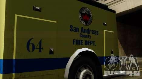 SAFD SAX Airport Engine для GTA San Andreas вид справа