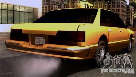 Taxi Kuruma 0.9 для GTA San Andreas вид слева