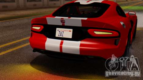 Dodge Viper SRT GTS 2013 IVF (MQ PJ) LQ Dirt для GTA San Andreas вид сзади