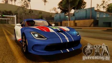 Dodge Viper SRT GTS 2013 IVF (HQ PJ) No Dirt для GTA San Andreas вид изнутри