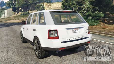 Range Rover Sport 2010 v0.7 [Beta] для GTA 5 вид сзади слева