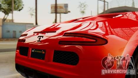 GTA 5 Adder Secondary Color Tire Dirt для GTA San Andreas вид справа