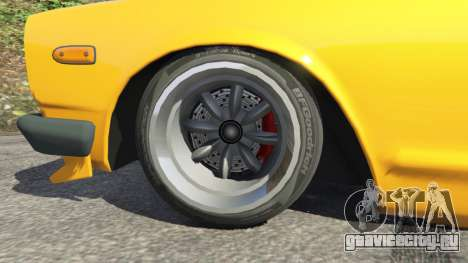 Nissan Skyline 2000 GT-R 1970 v0.3 [Beta] для GTA 5 вид сзади справа
