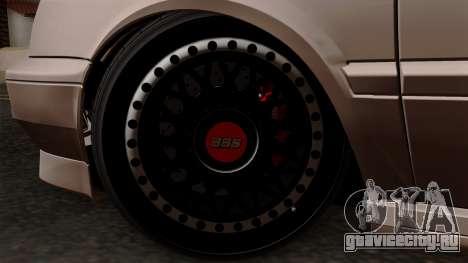 Volkswagen Golf 3 Shine для GTA San Andreas вид сзади слева