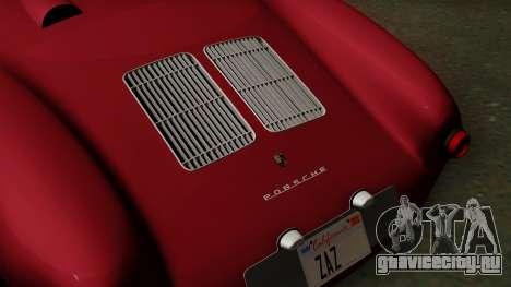 Porsche 550A Spyder 1956 для GTA San Andreas вид сзади