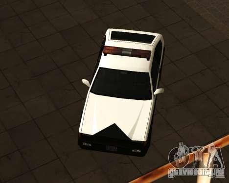 Japanese Police Car Blista для GTA San Andreas вид сзади слева