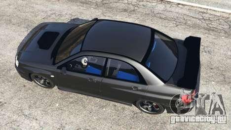 Subaru Impreza WRX STI 2005 для GTA 5 вид сзади