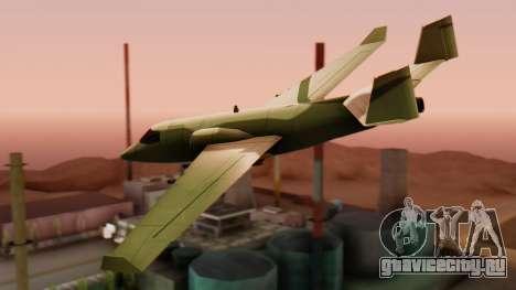 Штурмовик Shamal для GTA San Andreas вид слева