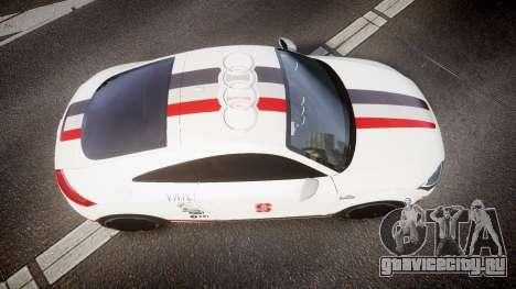 Audi TT RS 2010 Shelley для GTA 4 вид справа