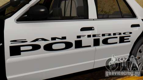 Police SF 2013 для GTA San Andreas вид справа