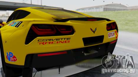 Chevrolet Corvette C7R GTE 2014 PJ1 для GTA San Andreas вид сзади