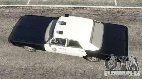 Dodge Polara 1971 Police v3.0 для GTA 5 вид сзади