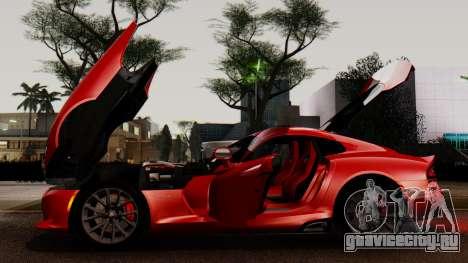 Dodge Viper SRT GTS 2013 IVF (MQ PJ) LQ Dirt для GTA San Andreas вид сверху