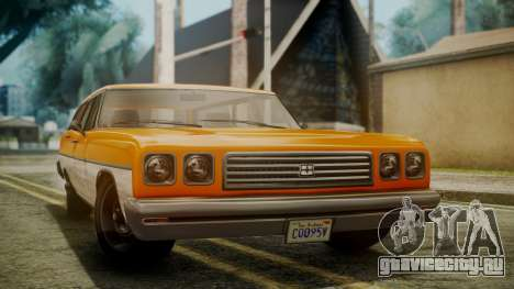 GTA 5 Dundreary Regina для GTA San Andreas вид справа