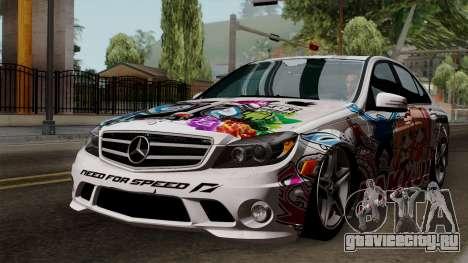Mercedes-Benz C63 AMG Momoka and Nonoka Itasha для GTA San Andreas