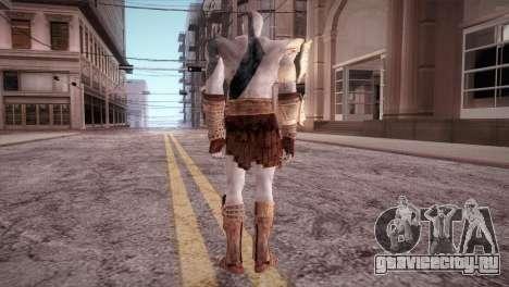 God Of War 3 Kratos Blue для GTA San Andreas третий скриншот
