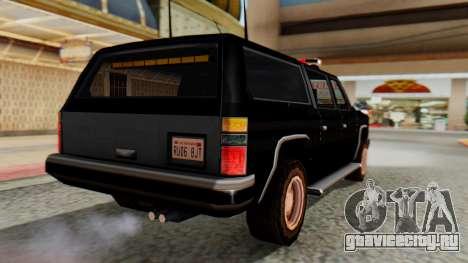 FBI Rancher with Lightbars для GTA San Andreas вид слева