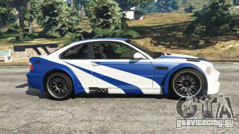 BMW M3 GTR E46 Most Wanted для GTA 5 вид слева