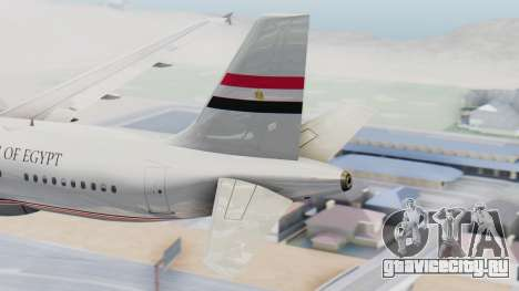Airbus A320-200 Egyptian Air Force One для GTA San Andreas вид сзади слева