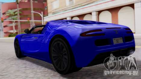 GTA 5 Truffade Adder Convertible для GTA San Andreas вид слева