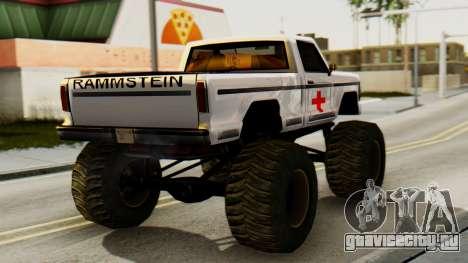 Новая оригинальная покраска для Monster A для GTA San Andreas вид слева