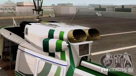 Bell UH-1N NAJA для GTA San Andreas вид сзади слева