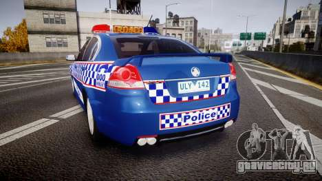 Holden VE Commodore SS Highway Patrol [ELS] v2.0 для GTA 4 вид сзади слева
