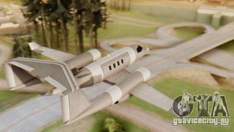 Двухбалочный Shamal для GTA San Andreas вид слева