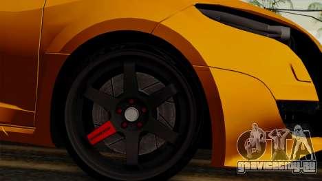 Renault Megane Sport HKNgarage для GTA San Andreas вид сзади слева