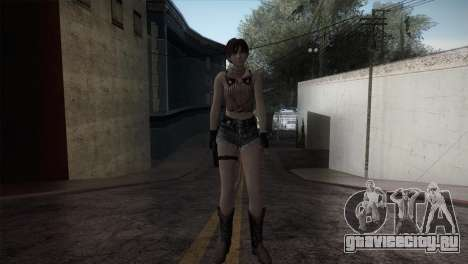 Resident Evil HD - Rebecca Chambers Cowgirl для GTA San Andreas второй скриншот