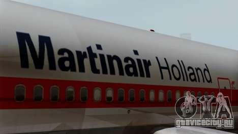 DC-10-30 Martinair для GTA San Andreas вид сзади
