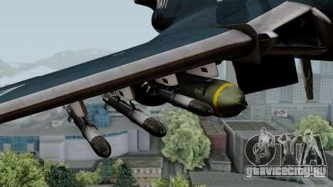 Grumman F9F-5 Phanter для GTA San Andreas вид справа