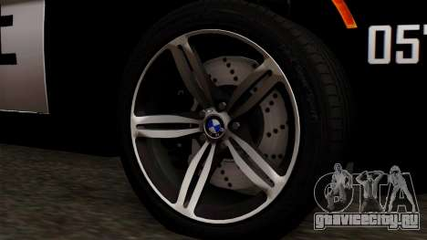 BMW M6 E63 Police Edition для GTA San Andreas вид сзади слева