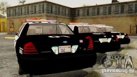 Ford Crown Victoria 2009 LAPD для GTA San Andreas вид слева